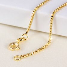 """9K 9ct Yellow """"GOLD FILLED"""" Girl Children Water Wave Necklace CHAIN. 13.78"""" Gift"""