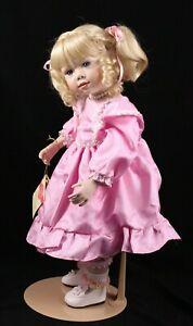 """MILLICENT 18"""" Porcelain & Cloth Christine Orange Elite Dolls Collection 177/3000"""