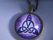 Beautiful! Vintage WICCA - Triquetra - Pentagram - pentacle pendant & Necklace