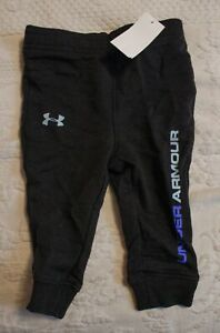 Under Armour Boy's Side Logo Jogger Pants SV3 Black Size 3-6 Months