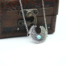 Vintage Necklace Tibet Silver Turquoise Bohemian Ethnic Festival Jewelry US