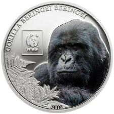 Tansania 100 Shillings 2016 WWF Berg-Gorilla CN Prooflike