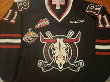 Jeff DeWit Game Worn and Signed Red Deer Rebels Authentic Hockey Jersey size 56