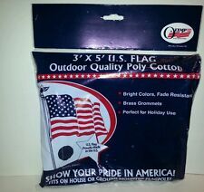 Olympus U.S. Flag Red White Blue 3' x 5' Outdoor Quality Poly Cotton Model Rk411