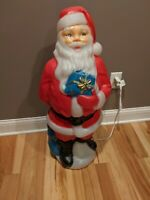 "Clean 34"" General Foam Santa Claus Christmas Blow Mold Lighted Light"