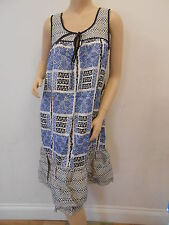 TOPSHOP Ladies Floral Tribal Printed Frill Hem Top Dress Size 10 £38 FREE P&P H3