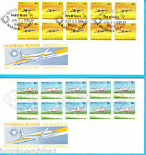 Marshall Islands 89 Airmail definitives stamp booklet panes FDC MH121453