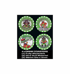 4  x RAIDERS CANBERRA FOOTBALL RUGBY LEAGUE AUSSIE RULES SOCCER, DRINK COASTERS