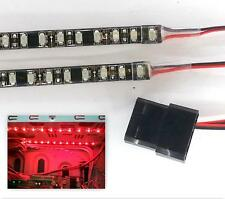 LED Rojo Modding PC Funda Luz (Doble 40CM Tiras) Molex 40CM Colas Doble Densidad