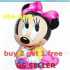Huge Baby Minnie Mouse Doll Foil Balloon Decor Baby Shower Birthday Party USA