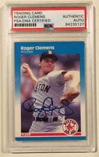 1987 Fleer ROGER CLEMENS Signed Autographed Baseball Card PSA/DNA #32 Red Sox