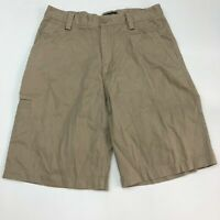 Dockers Chino Shorts Mens 30 Khaki Tan Flat Front 100% Cotton Slash Pockets