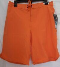 Roundtree & Yorke Size M Medium Orange New Mens Swimming Trunks Shorts