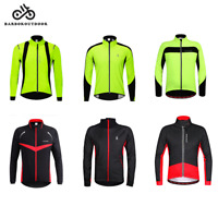 Men Mountain Bike MTB Cycling Jacket Long Sleeve Fleece Warm Coat Windproof Tops