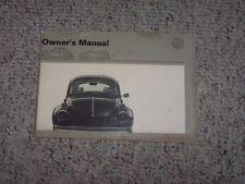 1971 VW Volkswagen Beetle Bug Super Beetle Owner User Manual Sedan & Convertible