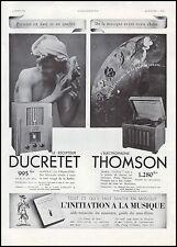 Publicité Gramophone Ducretet  photo vintage  ad  1936 - 6h