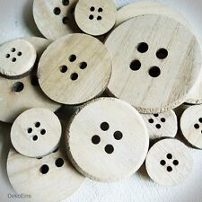 15 x GROSSE Holz Knöpfe (Set) Knopf NATUR HOLZ / 2,70cm bis 7cm / 27mm bis 700mm