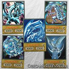 Yu-Gi-Oh! Custom Anime Orica - BLUE EYES WHITE DRAGON - 5 Card Set