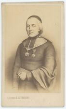 CDV circa 1865. François-Marie-Joseph Lecourtier, évêque émérite de Montpellier.