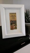 Vntg 1940s Vida's Groceries Collectible Matchbook Cover Art + White Wood Frame