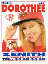 Publicité Advertising 028  1996  concert  Dorothée au Zenith & radio Europe 1