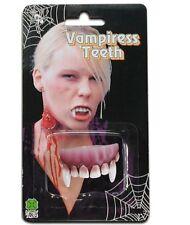 Dentier de vampire partie haute canines courtes gencives foncées [6512cancourt]