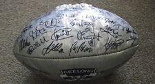 AFL GEELONG SIGNED SILVER FOOTBALL (GARY ABLETT JNR)
