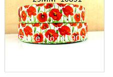 "Poppy Flower Ribbon Remembrance Day Anzac 1m 1"" wide"