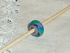 Authentic Trollbead Long Retired Beautiful Green Lilac Armadillo Collectors item