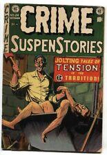 CRIME SUSPENSTORIES #24 1954-EC-wild dismemberment cover vg-
