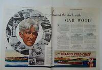 1933 Texaco Fire Chief  gas gasoline GAR WOOD 2 page original ad
