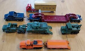 Vintage LESNEY MATCHBOX Collection.PICKFORDS,ANTAR,CATTLE TRUCK,ROTINOF,SCAMMEL.