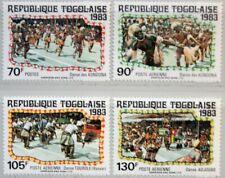 TOGO 1983 1656-59 1168-71 Folkdances Dancer Music Musik Volkstänze Tänzer MNH