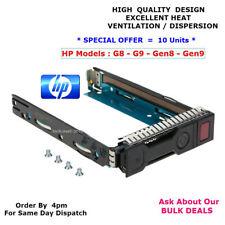 "10 x HP 651314-001 SAS SATA LFF 3.5"" Hot-Swap Hard Drive Caddy G8 G9 GEN8 GEN9."