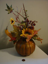 Artificial Halloween Fall Autumn Pumpkin Leaves Floral Centerpiece Decoration