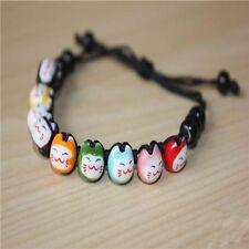 Fortune Jewelry Lucky Cute Braided Ceramic Bracelet Beads Cat