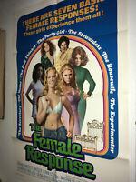 FEMALE RESPONSE Orig Movie Poster 1972 Grindhouse Sexploitation Jennifer Welles