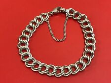 "JAMES AVERY Sterling Silver HEAVY DOUBLE CURB Charm Bracelet Medium 7"""