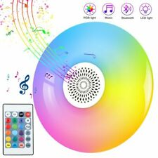 Smart E27 Rgb White Bluetooth Speaker Led Bulb Light Music Playing Dimmable