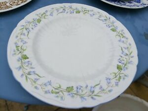 """Beautiful Shelley China Harebell 10 1/2""""  dinner cabinet plate mint condition"""