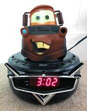 Disney Pixar CARS Talking Tow Mater Digital Alarm Clock Radio - Works Great!