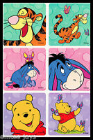 Winnie the Pooh Stickers x 6 - Tigger - Eeyore - Winnie the Pooh Birthday Party