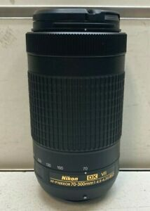 Nikon DX VR AF-P Nikkor 70-300mm 1:4.5 - 6.3ED Camera Lens - Bids From $1
