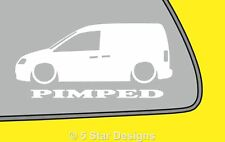 2x PIMPED LOW caddy 2k mk3 Outline sticker. For caddy TDI LR105