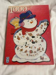 SNOWMAN WINTER CARNIVAL Shaped Puzzle 1000 pc Christmas Puzzle FX Schmid