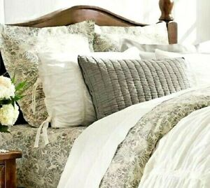 NEW Pottery Barn MARI DUVET & SHAMS Queen w/ Euro Pillow Covers Organic Cotton