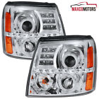 For 2002-2006 Cadillac Escalade Halo Projector Headlights LED DRL Lamps 02 03 04  for sale