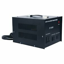 5000W Step Up&Down Transformer 110V to 220V Circuit Breaker Protection Usa Hot!