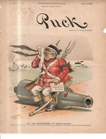 1893 Puck July 12 cover only - England mourns the loss of one of her war-ships