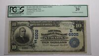 $10 1902 Newark New York NY National Currency Bank Note Bill Ch. #6802 VF20 PCGS